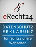 zeigt das Siegel von eRecht24
